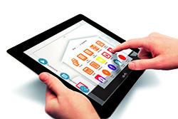 Bediening Smartphone of tablet